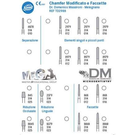 Набір для препарування Доменіко Массіроні ( Domenico Massironi TD2988) KOMET DENTAL