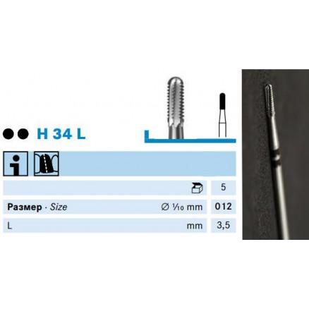 Бори для розрізання сталевих коронок (H34L) KOMET DENTAL