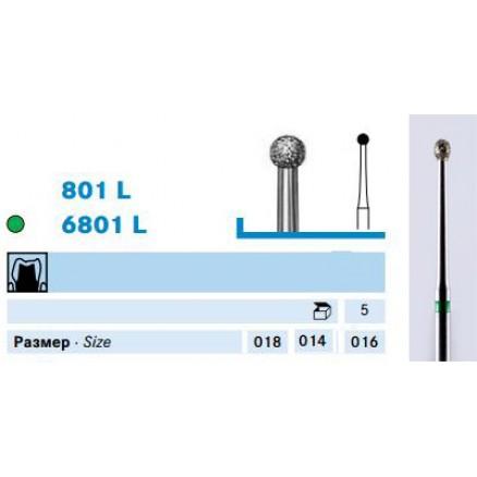 Шаровидний бор видовжений (801L, 6801L) KOMET DENTAL