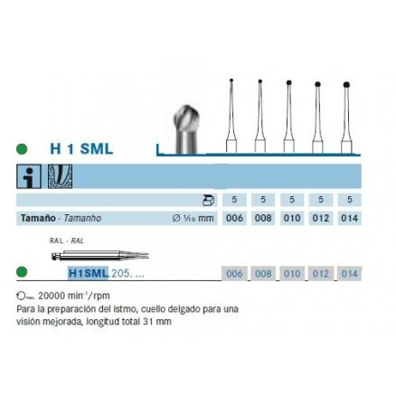 Шаровидний карбідний бор (H1SML31) KOMET DENTAL