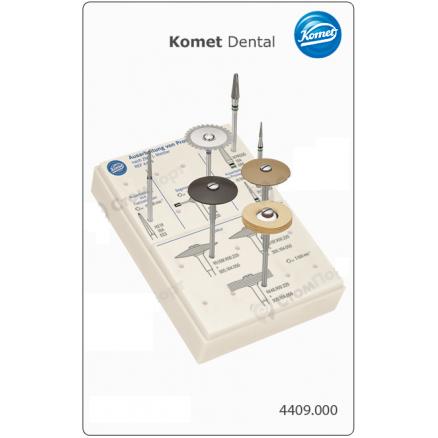 Набір для обробки тимчасових протезів, за методикою асистента стоматолога Дж. Меттлер ( 4409 ) KOMET DENTAL