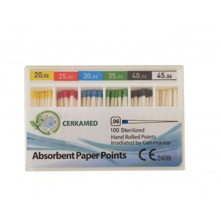 Абсорбуючі паперові штифти 06 конус, 60 шт. Cerkamed