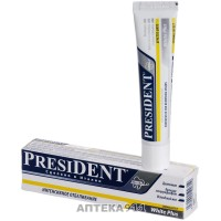 Зубна паста PRESIDENT (Президент) White Plus Вайт Плюс 30 мл
